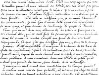 Lettre d'Albert Abalain à ses parents