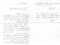Lettre d'André Chesnot à ses parents