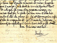 Lettre de Louis Le Bail à ses parents