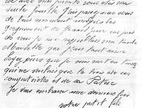 Lettre de Robert Peltier à ses parents et à son oncle