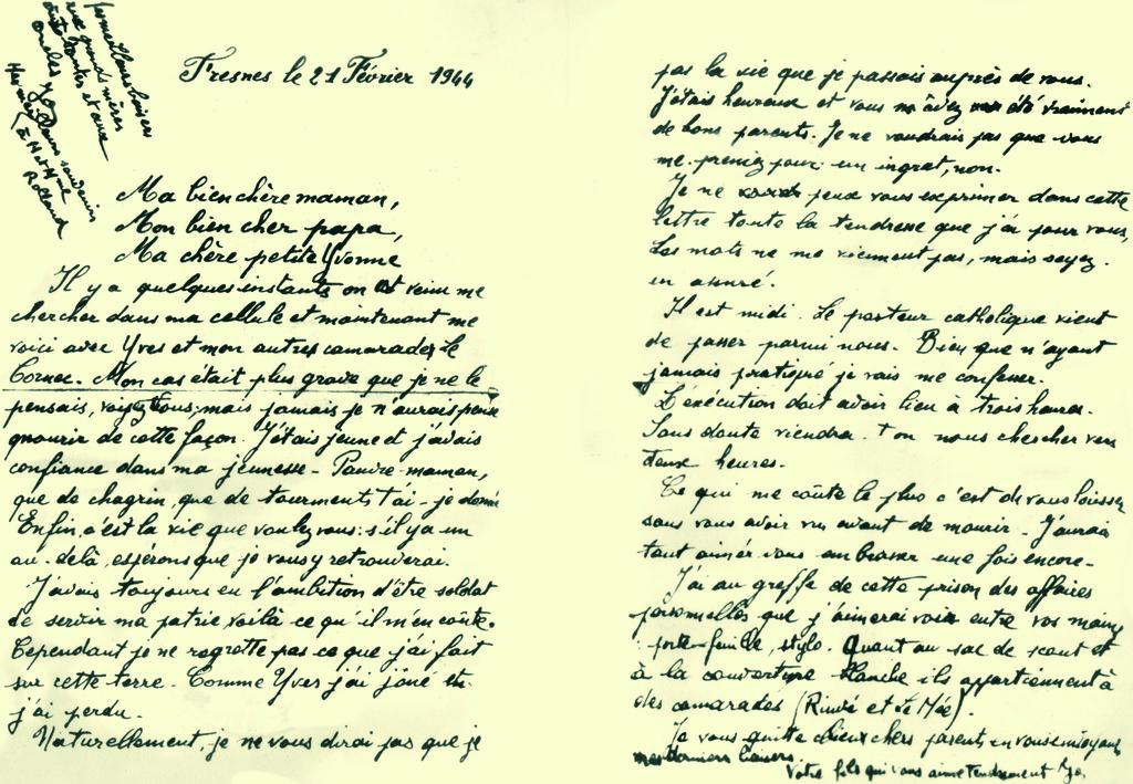 lettre de geffroy georges le mont val 233 rien pendant la seconde guerre mondiale le mont